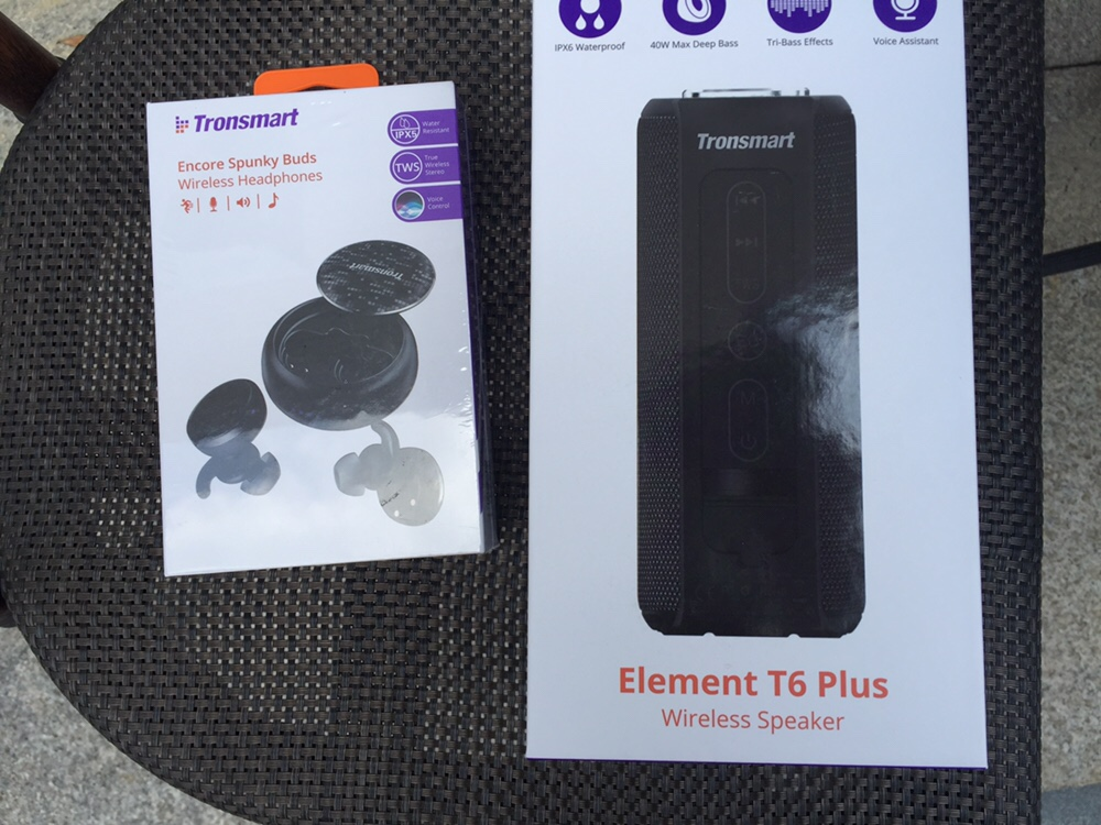 Tronsmart Element T6 Plus 40W Speaker + Spunky Buds TWS Earbuds Black