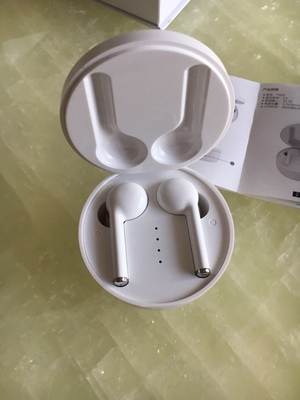 TW40 Bluetooth 5.0 TWS Earbuds Hifi Stereo Sound Bilateral Call Siri Google Assistant 500mAh Charging Battery - White